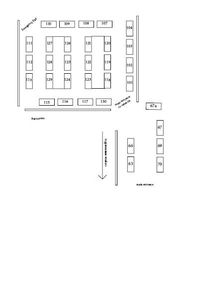 master vendor map CAFETERIA
